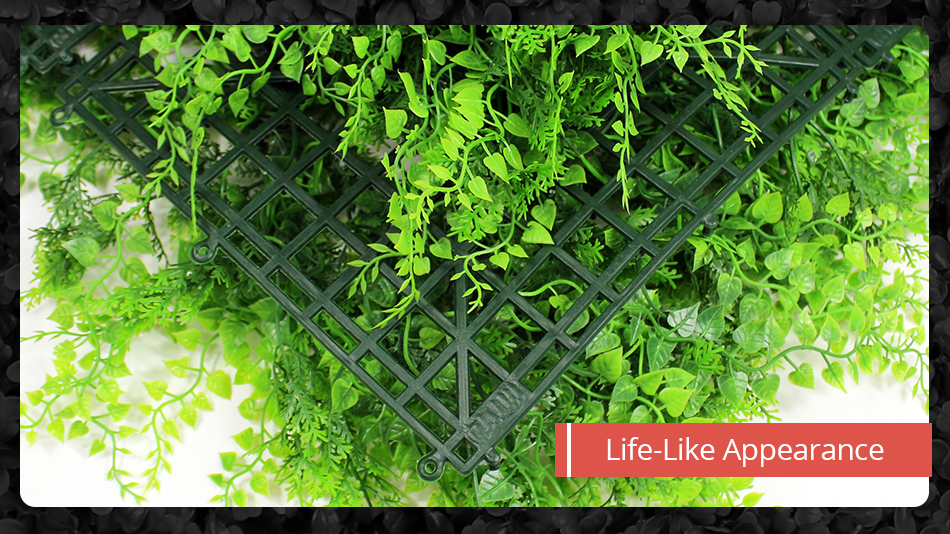 Faux Artificial Ivy Leaf Green Privacy Balcony Fence Screen Decoration 1MX1M Panels Hedges Yard Garden Wedding Decorations2