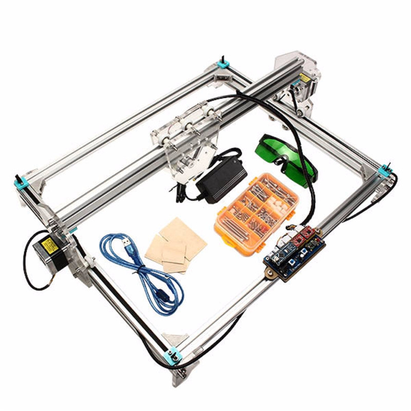 EleksLaser-A3 Pro Laser Engraving Machine CNC Laser Printer  Aluminum Profiles And Acrylic MircoUSB Communication Port