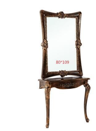 Купить с кэшбэком Creative beauty salon, mirror stand, single and double floor mirror, tieyi barbershop mirror.