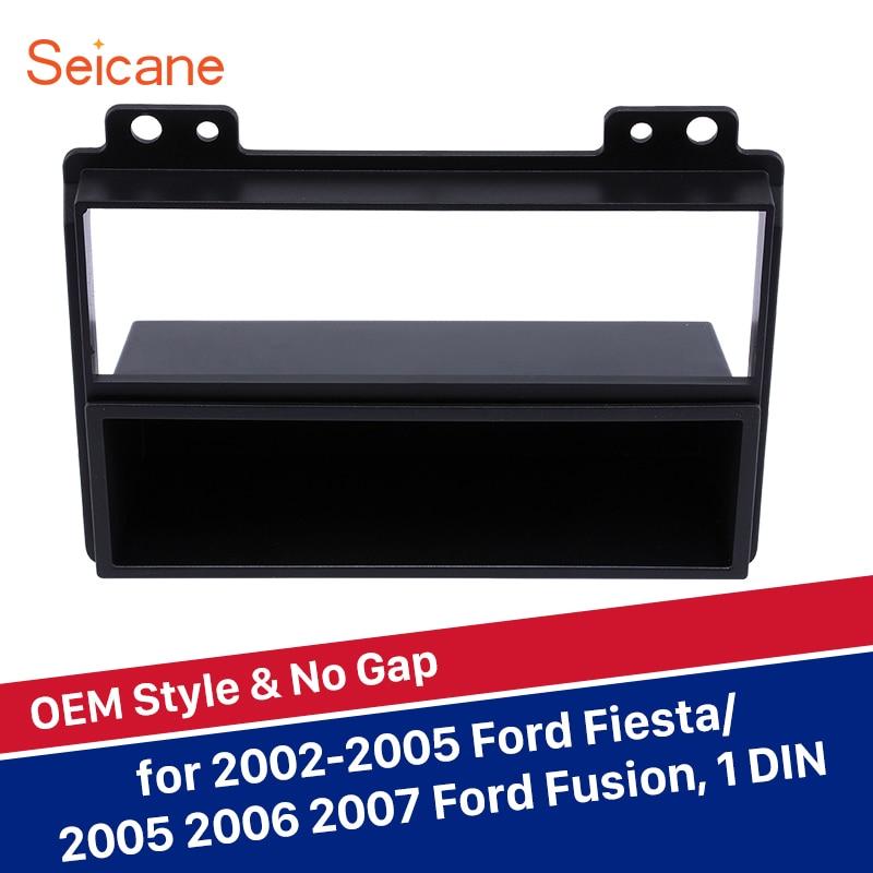 Ford Focus C-MAX 2004-2011 Voiture Stéréo Simple Din Fascia Panel Noir