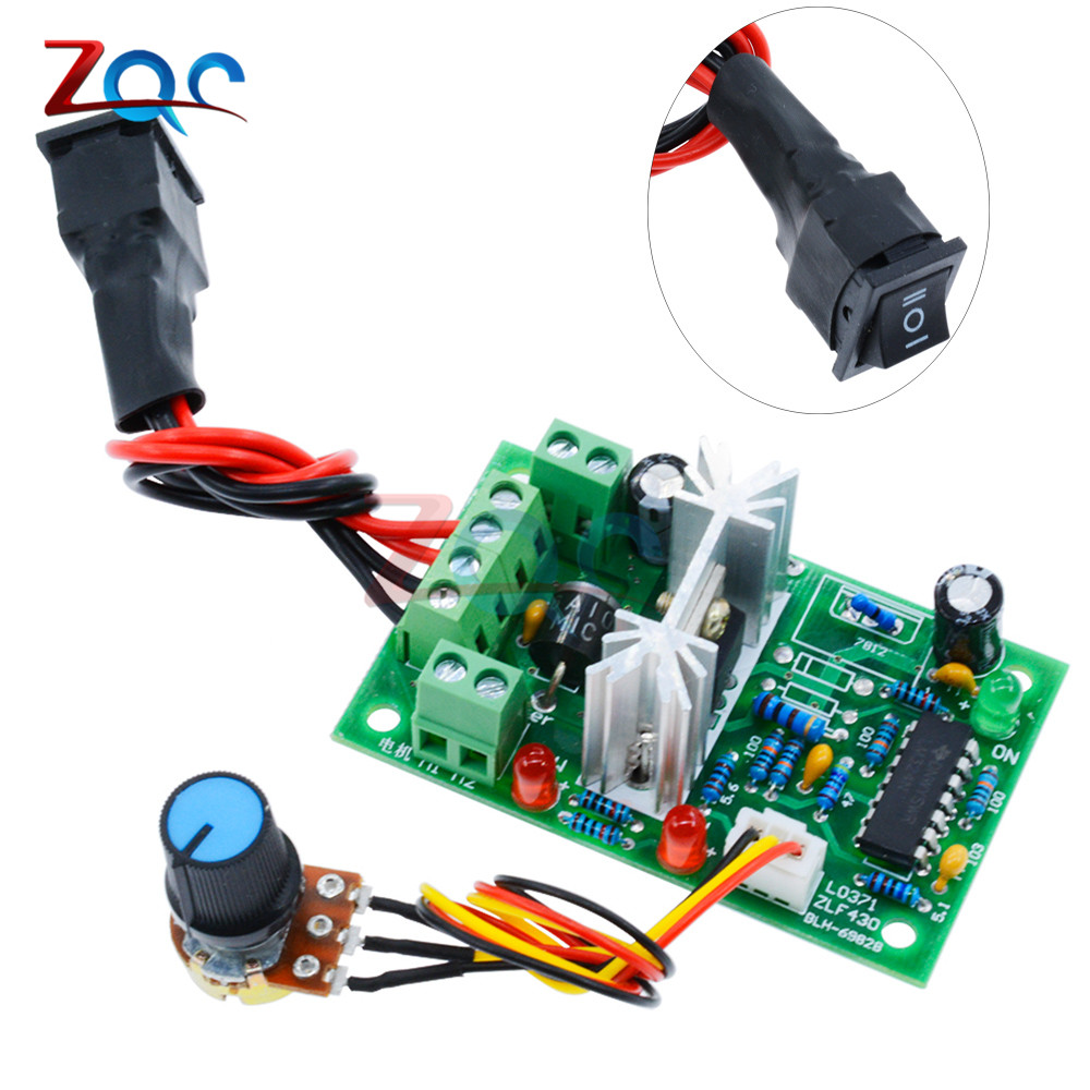 Bringsmart Ccm6d Dc Motor Controller 10a Stepless Motor Speed Controller Pwm Driver Board Support Forward Reverse 9v-60v Motors & Parts