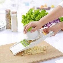Free Shipping Slicer Potato Carrot Dicer Salad Maker Assistant (5 blades)-Multi Mandoline Vegetable Slicer & Gratert(00207)