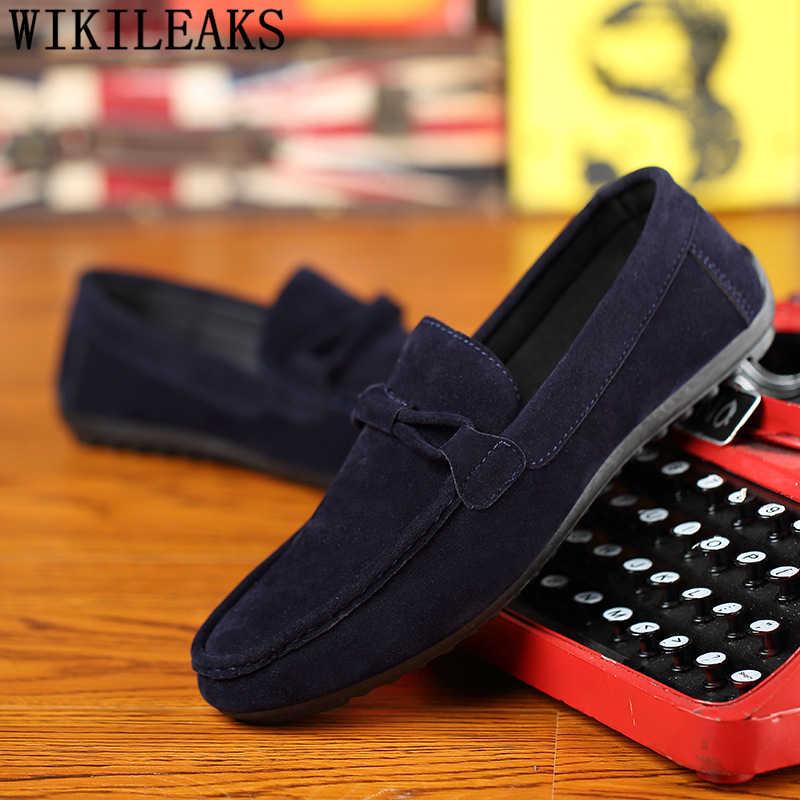 รองเท้า mens loafers หนังรองเท้าแตะรองเท้าผู้ชายหรูหรายี่ห้อ zapatos hombre casual cuero genuino designer รองเท้าผู้ชาย bona