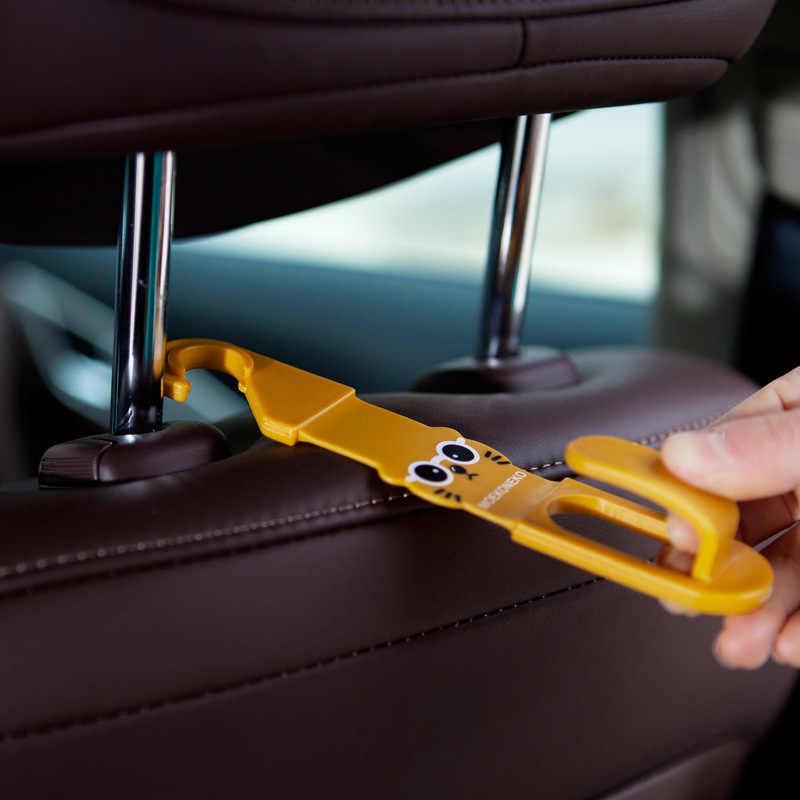 2 шт. мультяшный Автомобильный подголовник на заднее сиденье, держатель, крючки для сумки, кошелек, тканевый коврик, автозажим для машин, фиксатор для сиденья, застежка