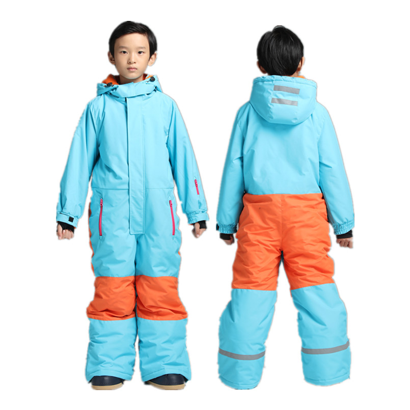 One Piece Ski Suits Kids Winter Ski Suit for Girls Boys Skiing Baby Warm Jumpsuit Snow Sets Skiing Snowboard Jacket Pants boys girls snow suits kids ski jacket pants windproof waterproof breathable winter warm clothing children suit set for skiing