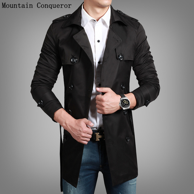 AIRGRACIAS 2016 Spring Collection brand clothing of Men's Cotton trench coat men Clothes for male Windproof Jacket