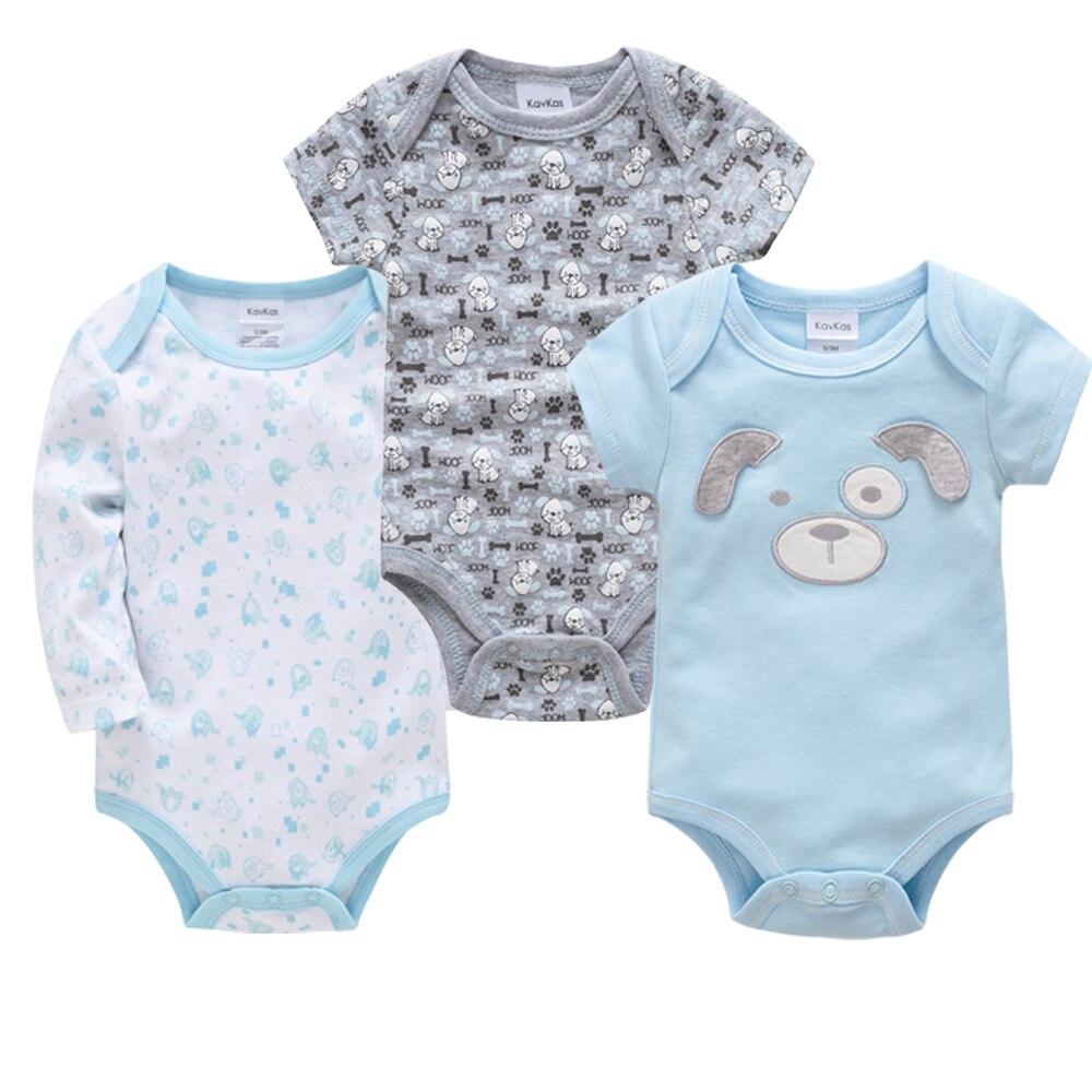 Kavkas 2019 Baby Clothes Cotton O-Neck Newborn Boys Clothing Autumn Bebes   Rompers
