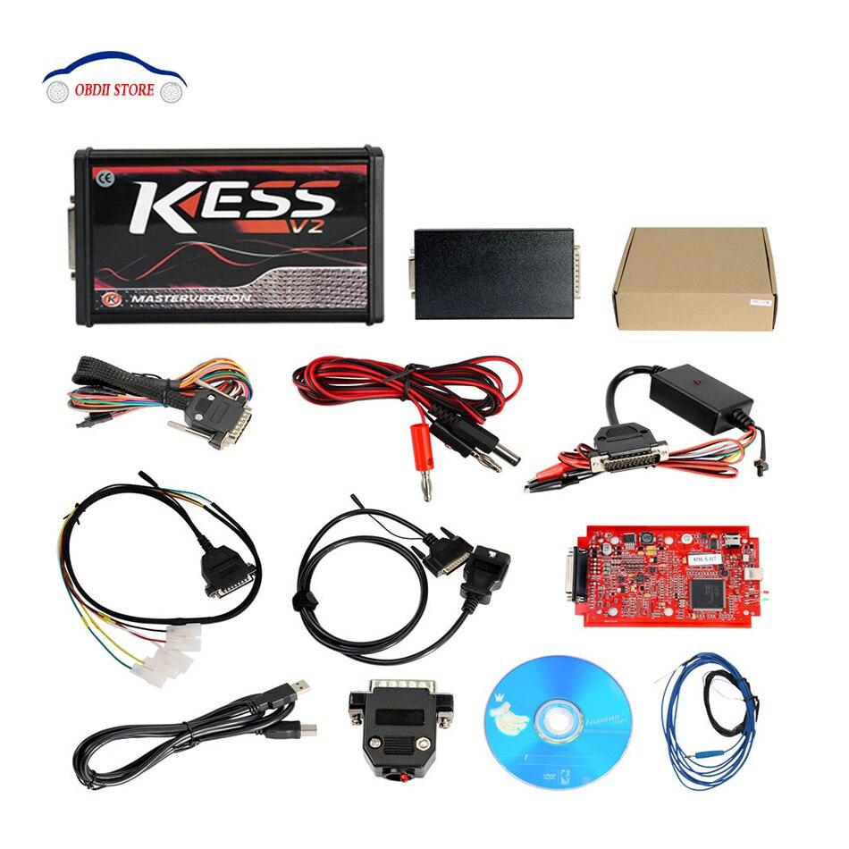 Kess V2 V 5,017 Online Version Keine Begrenzung Tokens Kess V2 V 2,23 OBD2 Manager Tuning Kit Auto Lkw ECU programmierer Neue Red PCB