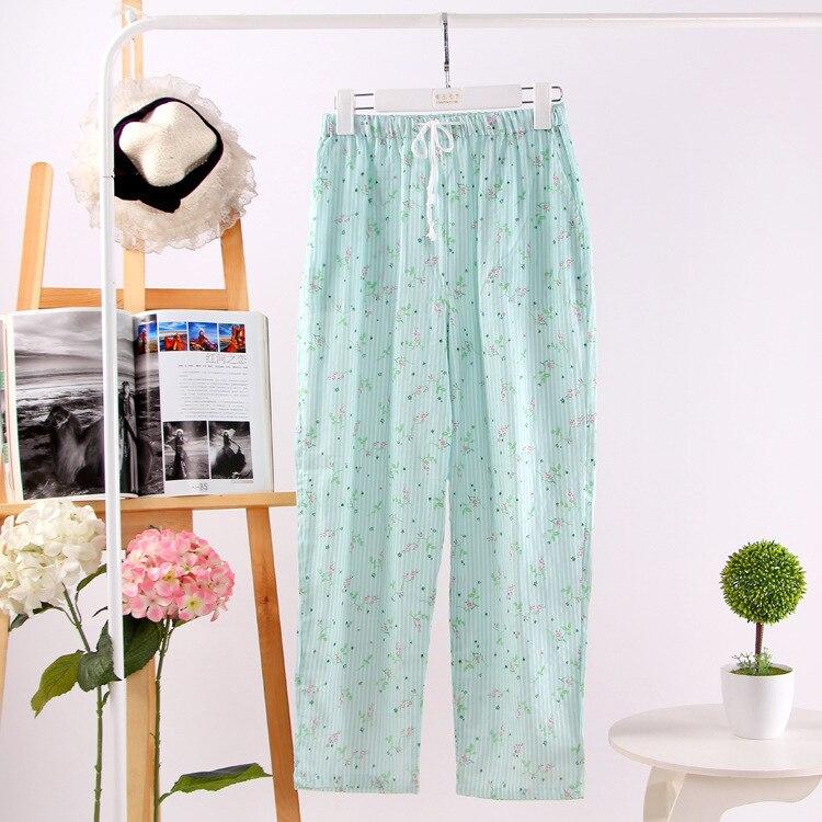 Comfortable Soft Cotton Gauze Pajama Pants Home Pants For Women Sleep Bottoms Cute Lounge Wear Sleeping Pyjama Bottoms Nightwear