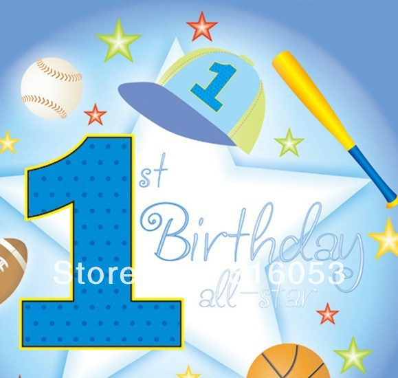 6Kids Free Shipping Boys 1st Birthday Decor Party Time