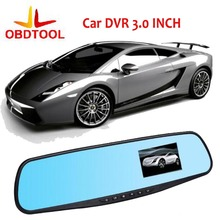 ObdTool Car DVR 3.0″ Rear View Camera HD Dash Cam Video Recorder Rearview Camera Car dvr 140 Degrees Wide angle