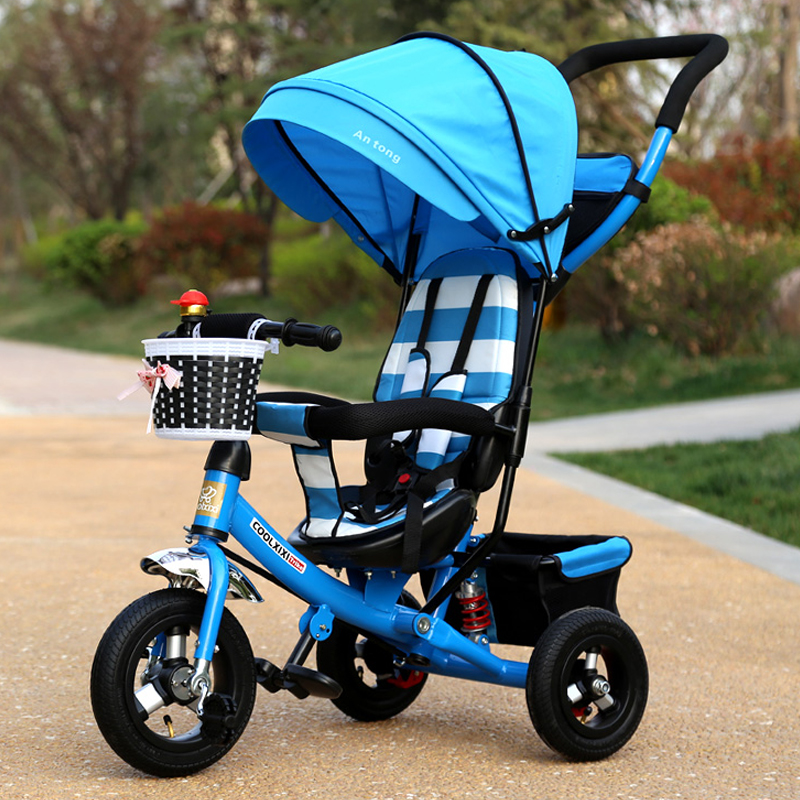 Children tricycle folding baby carriage baby bike 1-3-5 year old child bike baby trolley children tricycle folding baby carriage baby bike 1 3 5 year old child bike baby trolley
