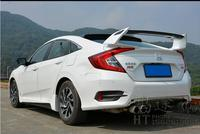 JIOYNG Carbon fiber + ABS CAR REAR WING TRUNK SPOILER FOR 16 17 Honda NEW Civic 2016 2017 TypeR STYLE FAST BY EMS