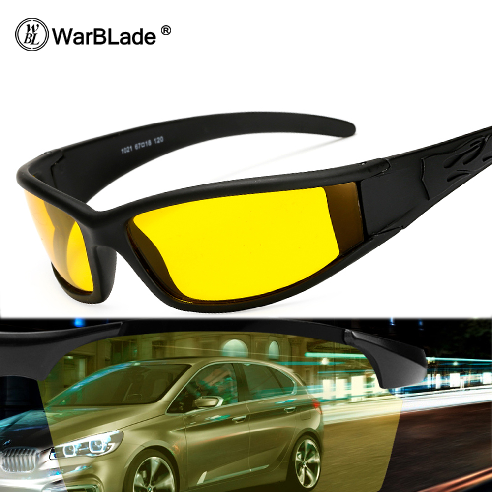 WarBLade Yellow Polarized Sunglasses Men Night Vision Glasses 2020 Brand Designer Women Spectacles Car Drivers Goggles For Man
