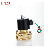 24V AC 3/4 Electric Solenoid Valve Pneumatic Valve for Water Oil Air Gas Pneumatics Alloy Body N/C