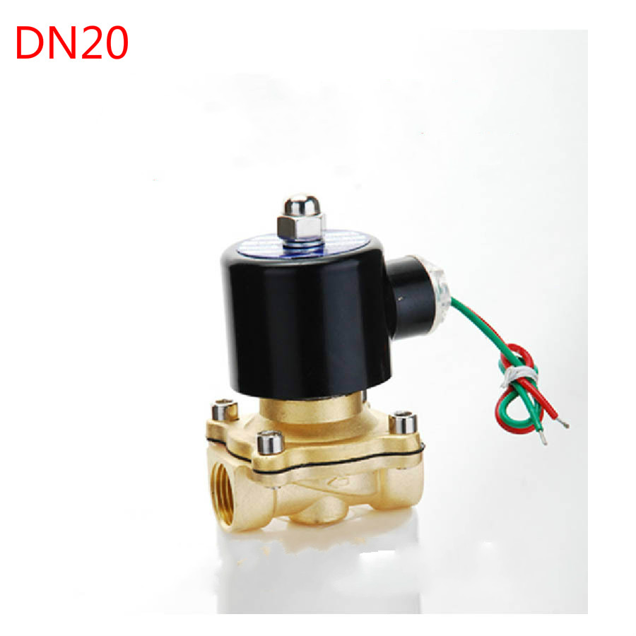 24V AC 3/4 Electric Solenoid Valve Pneumatic Valve for Water Oil Air Gas Pneumatics Allo ...