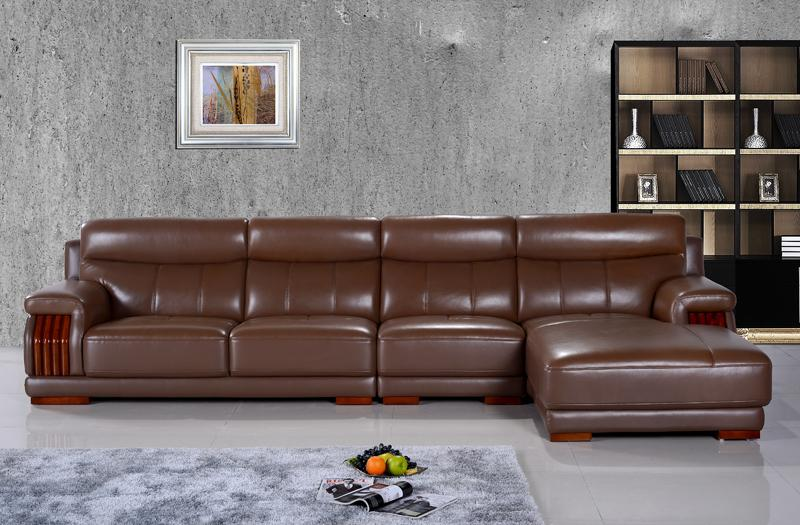 Free Shipping American Furniture Style, Modern And Smart Design, Brown  Color Top Grain Genuine
