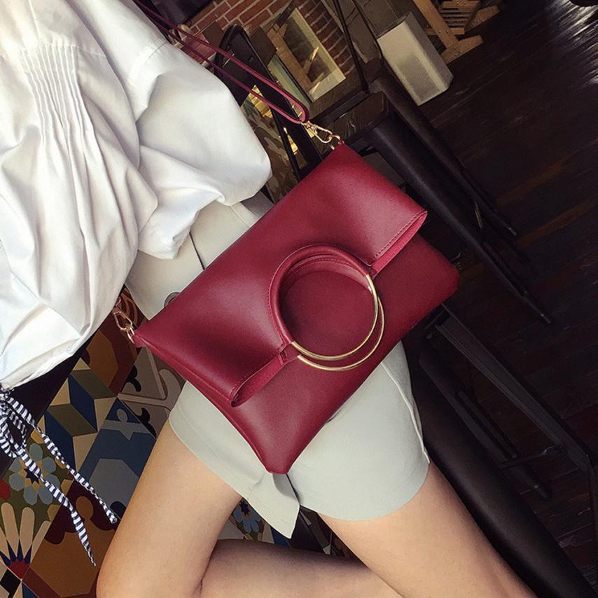 Последняя женская мода Искусственная кожа мать мешок складной кольцо Посланник Сумка + Ручная Сумка сплошной цвет молнии ведро сумка # F