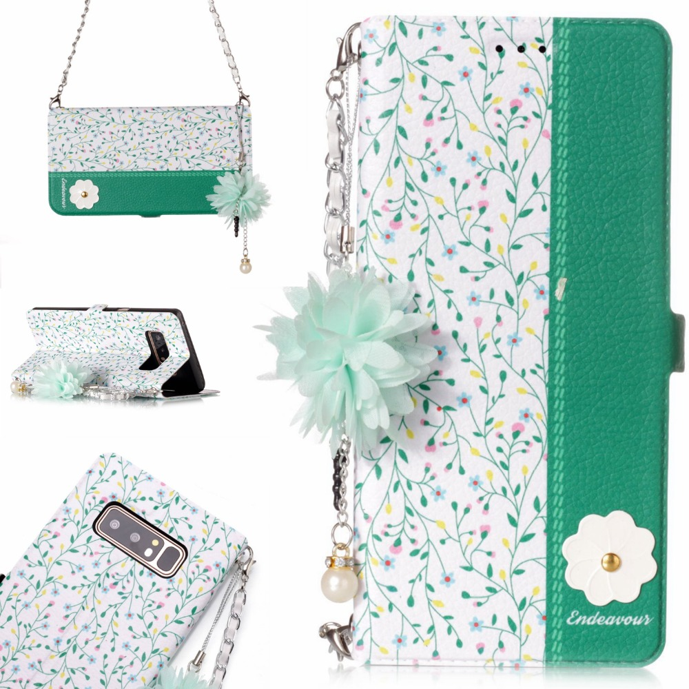 Luxury TPU Leather For Coque Samsung Galaxy Note 8 <font><b>Case</b></font> Flip Wallet <font><b>Phone</b></font> <font><b>Case</b></font> Shoulder Chain For Samsung Note 8 <font><b>Case</b></font> Card Slot
