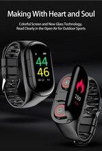 Смарт-часы M1 AI с 2 Bluetooth-наушниками, пульсометром и длительным временем работы в режиме ожидания