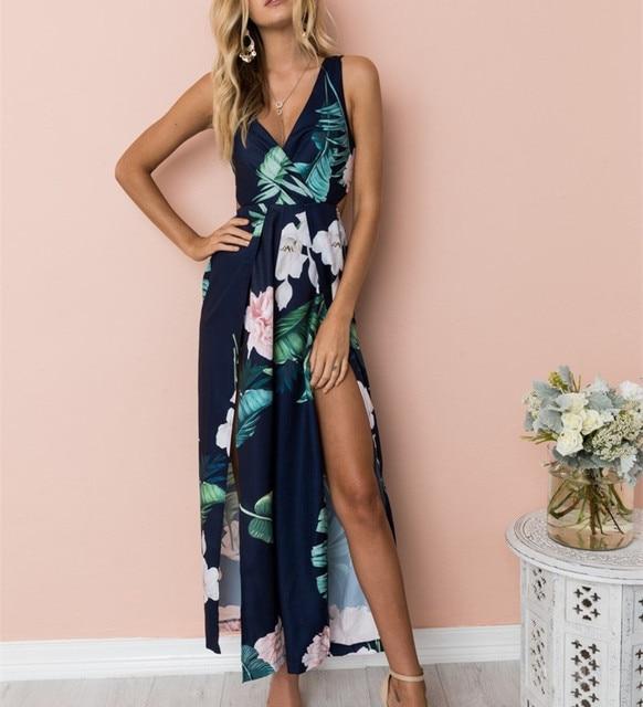 Women Boho Long Maxi Dress...