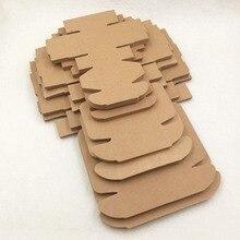 20 pcs Kraft scatola di imballaggio di carta regalo, kraft cartone sapone fatto a mano contenitore di caramella, personalizzato mestiere contenitore di regalo di carta
