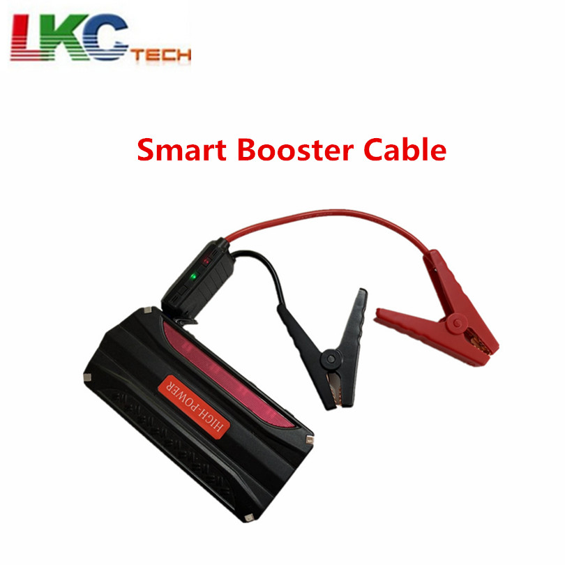 2019 Newest Smart Booster Cable 10Awg Emergency 200A Car Alligator clip power battery clips Cable EC5 Plug with 4IC(China)