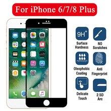 Protetor de tela para iphone, protetor de tela de vidro temperado para iphone 7plus 8 plus 6 6s filme de vidro i7 i8 iphone7plus i