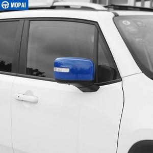 Image 5 - MOPAI רכב Rearview מראה קישוט כיסוי מדבקות לjeep Renegade 2015 עד מראה אחורית חיצונית אביזרי רכב סטיילינג