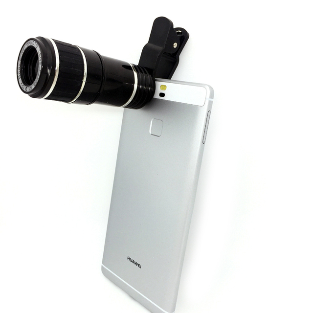 Teleobjetivo de 12X Telescopio Del Zumbido Del Teléfono Móvil Universal Lente Óptico de Lentes para iphone 6 s 7 plus samsung s6 edge huawei lg asus