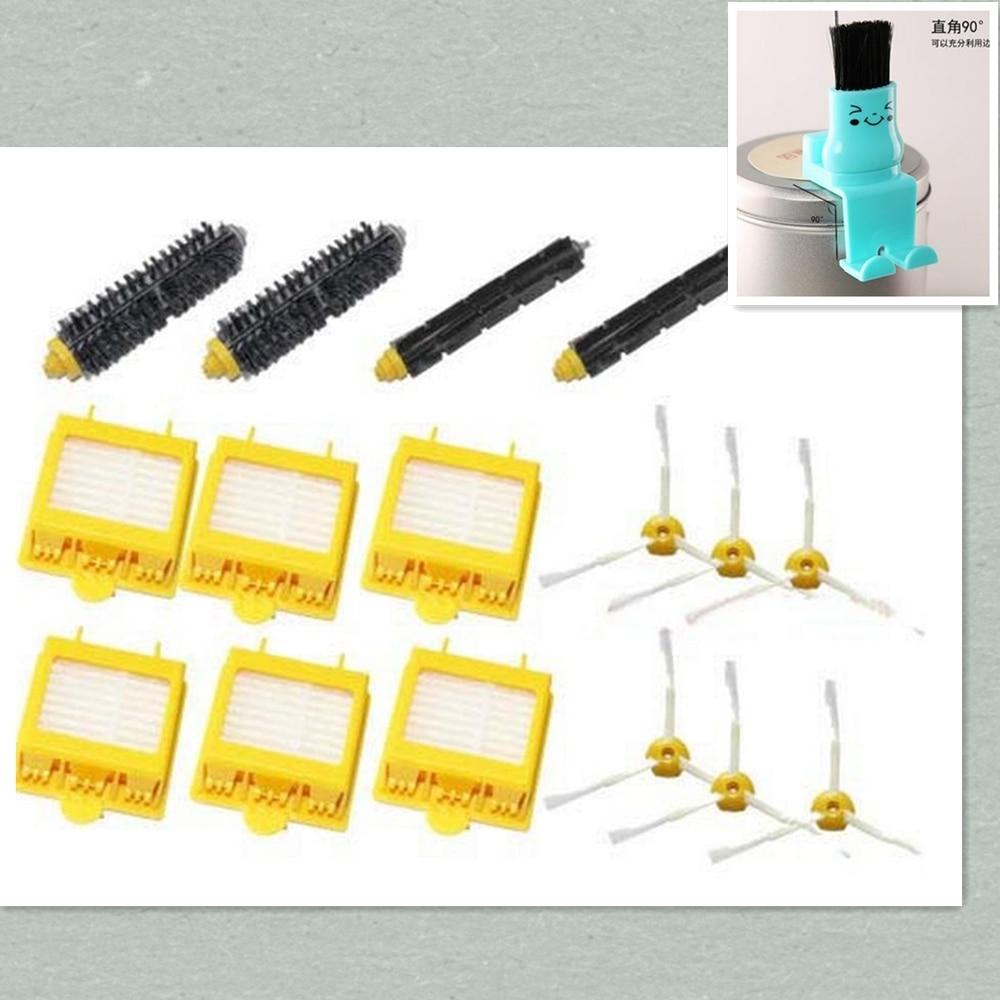 Hepa Filter + Flexible Beater Bristle Brush kit + side brush kit for iRobot Roomba 700 Series 760 770 780 790 accessory parts