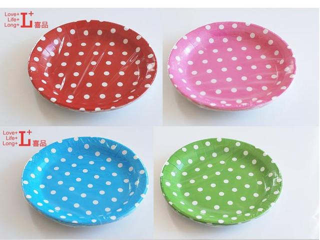 9inch Diameter Dot disc Paper Plates Christmas Wedding Eco-friendly Ice Cream Disposable Party Tableware  sc 1 st  AliExpress.com : paper christmas plates - pezcame.com