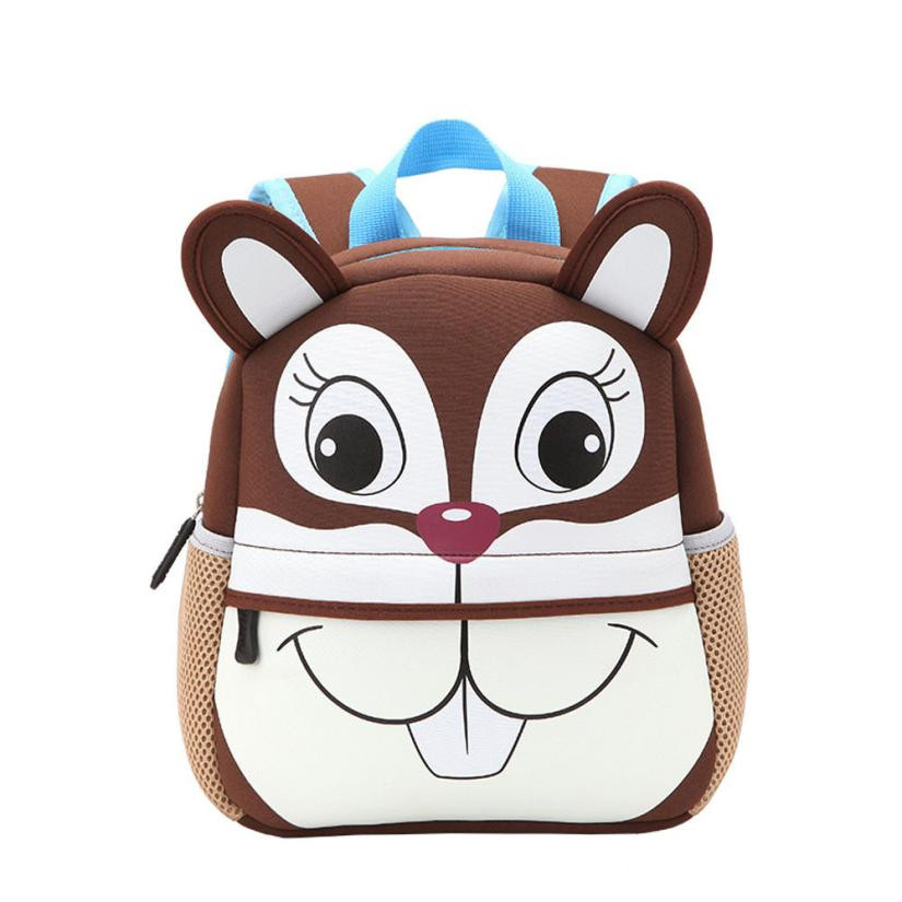 Cute School Bag Small Animal backpack Children School Backpacks Character Zipper Backpack For Kids Girls Boys Mochilas sac a dos new fashion animal school bag for boys cute dog children orthopedic school backpack for girls children mochila escolar for kids
