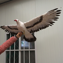big simulation Seagull toy plastic & feather flying seagull bird model gift about 100x50cm