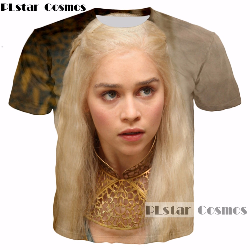 PLstar Cosmos hot sale 2017 summer Fashion Men/Women 3D t-shirt New design TV play Game of Thrones Unisex t shirt casual tops