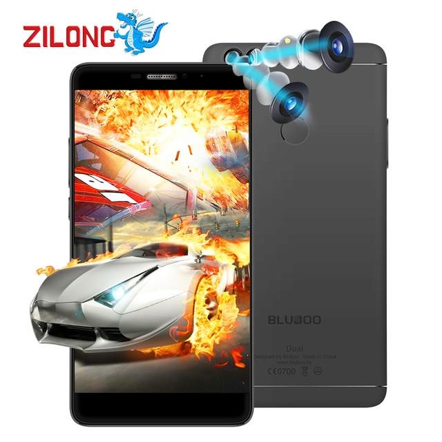 Original Bluboo Dual Camera Smartphone MTK6737T Quad Core Android 6.0 5.5 Inch Mobile Phone 2G RAM 16G ROM 1920X1080 Pixels