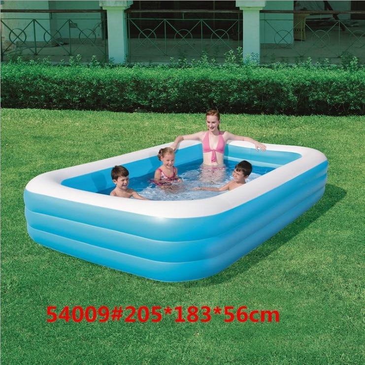 Achetez en gros rectangulaire gonflable piscine en ligne - Piscine gonflable adulte ...