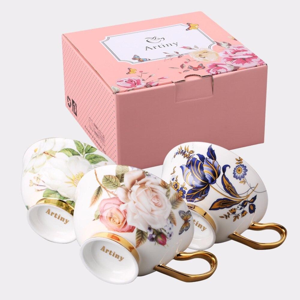 Elegant Bone Porcelain Coffee Cups And Saucer Ceramic Luxury British ...