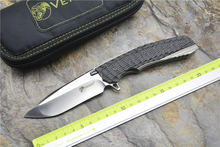 KEVIN JOHN KNIFE  VENOM 2  M390 Blade Titanium Alloy+Carbon Fiber Handle Outdoor camping hunting Hunting pocket knives EDC TOOLS
