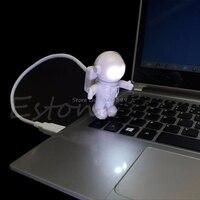 1PC Fantasy Astronaut USB Powered Mini LED White Night Light Bulb for Laptop PC Reading Gift Lights G08 Whosale&DropShip