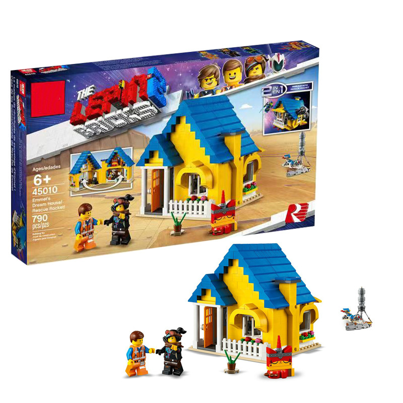 New Legoing Movie 2 Emmet's Dream House Rescue Rocket Compatible Legoing 70831 Building Blocks Bricks Educational Toys DIY Gifts