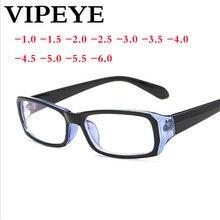 94bf57081a916 -1.0-1.5-2.0 a-6.0 Simples Full Frame óculos de Miopia Terminou Óculos Com  Grau Mulheres Homens Curto-sight Óculos Azuis Óculos .