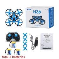 JJRC H36 Mini Drone Headless Mode 2 4G 4CH Pocket Drones RC Helicopter Dron Quadcopter 3pcs