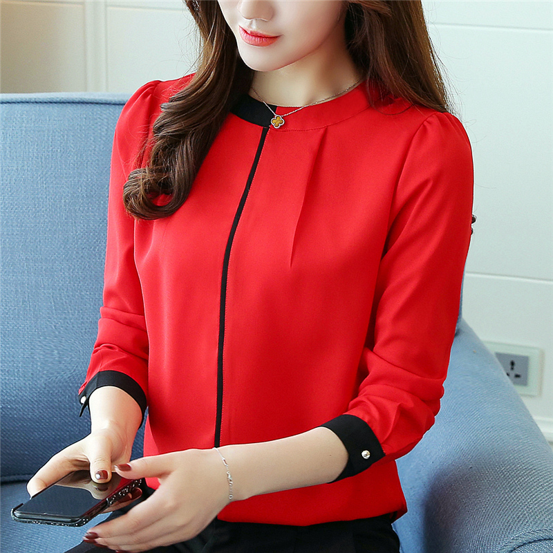 Autumn S 2XL Women Office Chiffon Official Blouses Shirts Pullovers Female Formal Shirts Full Sleeve Blouses Tops GD9041-in Blouses & Shirts from Women's Clothing on AliExpress - 11.11_Double 11_Singles' Day 1