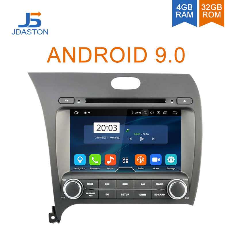 JDASTON 2 DIN Android 9.0 Car DVD Player For Kia CERATO K3 FORTE 2013 2014 2015 Octa Cores 4GB Radio Multimedia GPS Audio Stereo