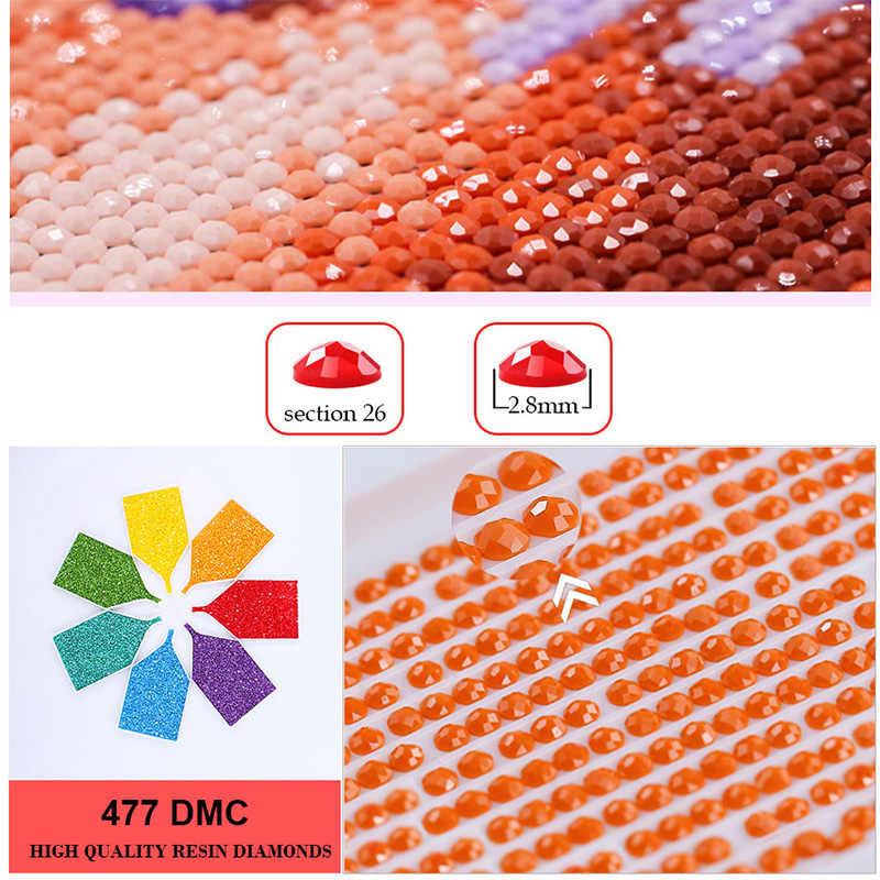 5D DIY Diamond Painting Embroidery Red Wings Angel Crystal Drawing Needlework Gift Full Diamond Mosaic Cross stitch Home Decor