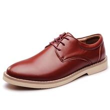 Cow split shoes dress genuine leather shoes men casual shoes