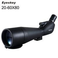 20 60x80 Angled Spotting Scope Eyeskey Angled Spotting Scopes Zoom Hunting Telescope Monocular Waterproof Telescope for Hunting
