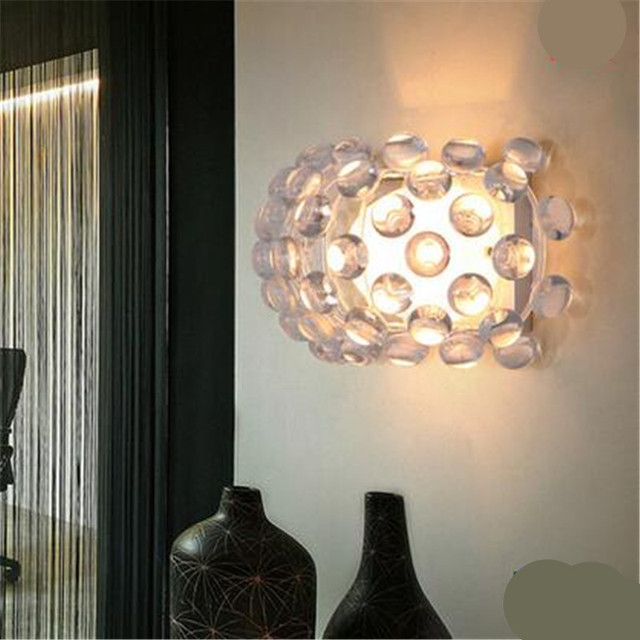 Italy design patricia urquiola s3 wall lamp foscarini caboche media pendelleuchte crystal acryl clear wall light