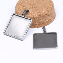 Buy pendant bezel blanks and get free shipping on aliexpress onwear 10pcs stainless steel 25mm square cabochon setting mozeypictures Image collections